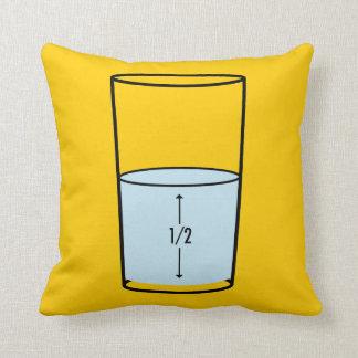 Glass Half Full - optimism Cushion