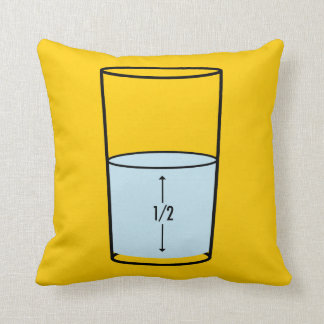 Glass Half Full - optimism Throw Pillow
