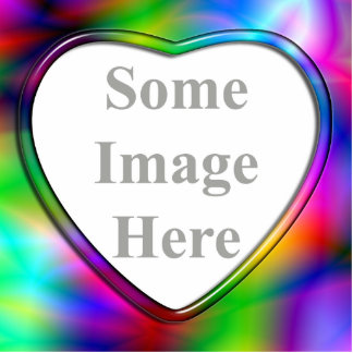 Glass Heart Frame Colorful Abstraction Photo Scul Photo Sculpture Magnet