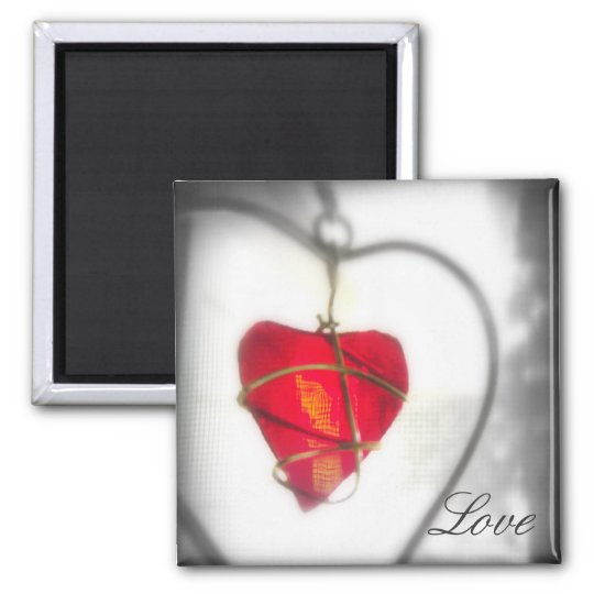 Glass Heart Magnet