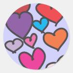 Glass Hearts Sticker