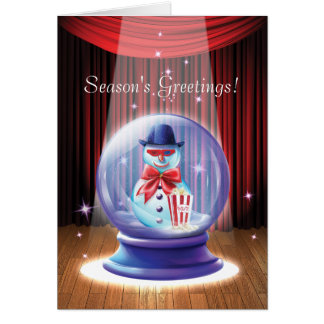 Glass Holiday Fantasy Corporate Greeting Card
