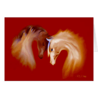 """Glass Horses"" ~ Greeting Card (blank)"