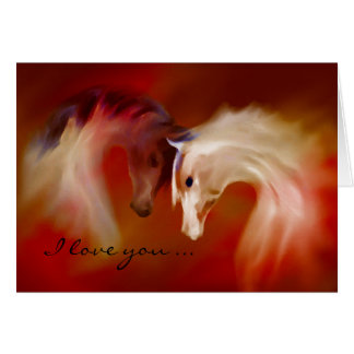 """Glass Horses, Valentine's Love"" ~ Greeting Card"