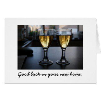 Glass Houses :  Good luck in your new home. Greeting Card