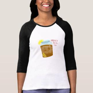 Glass Jar Of Sweet Iced Tea With Lemon Wedges Tee Shirt