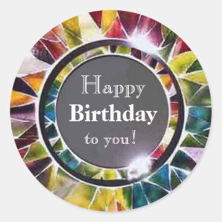 Glass Jewelry Luxury Happy Birthday Sticker