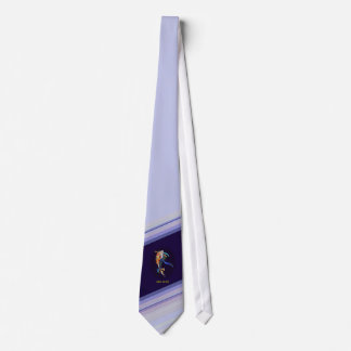 Glass Koi Art Successful Business Tie Striped Blue