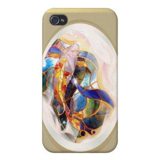Glass Koi Fantasy Art  Cases For iPhone 4