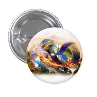 Glass Koi Fish Japanese Art Button