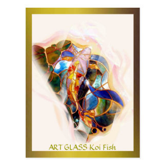 Glass Koi Fish Modern Fine Art Postcard