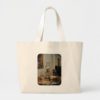 Glass Lamp and Stereopticon Large Tote Bag