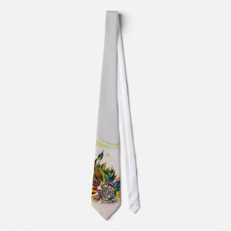 Glass Leaves Floral Fashion Ladies Tie