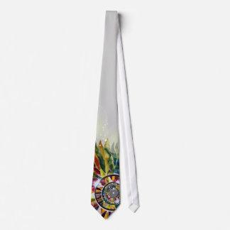 Glass Leaves White Wedding Japanese Designer Tie