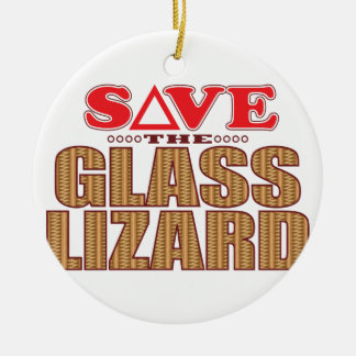 Glass Lizard Save Christmas Ornament