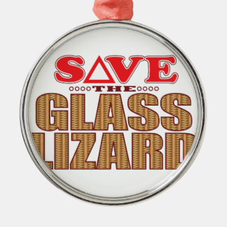 Glass Lizard Save Christmas Ornament