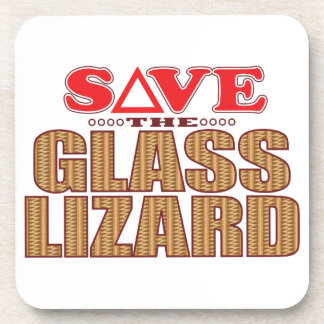 Glass Lizard Save Coaster