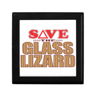 Glass Lizard Save Gift Box