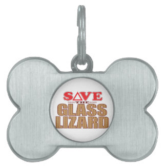 Glass Lizard Save Pet Tag