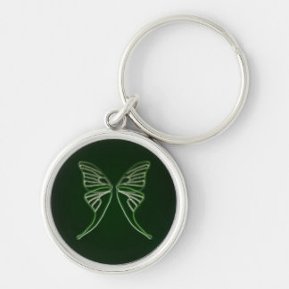 Glass Luna Moth Wings (Hunter Green) Keychains