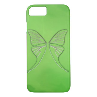 Glass Luna Moth Wings (Lime) iPhone 7 Case