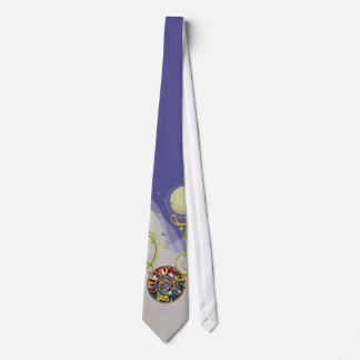 Glass Mandala Blue Traditional japan Fashion Tie