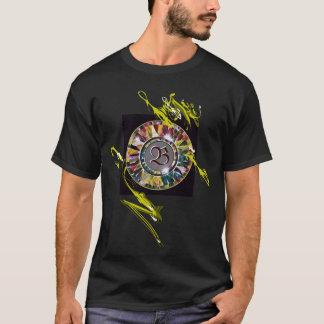 Glass Mandala Initial Decorative Fashion T-shirt