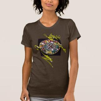 Glass Mandala Original Design Initial T-shirt