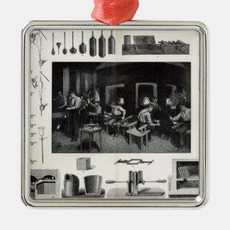 Glass manufacture Silver-Colored square decoration