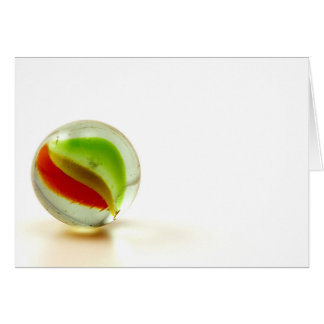 Glass marble photograph card