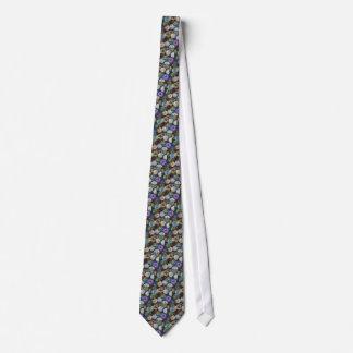 Glass Marbles: Original Color Pencil Drawing Tie