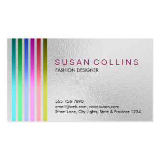 Glass Material Professional Clean Striped Pack Of Standard Business Cards