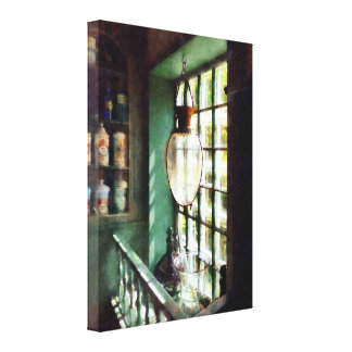 Glass Mortar and Pestle on Windowsill Gallery Wrap Canvas