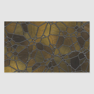 Glass Mosaic Images Rectangular Sticker