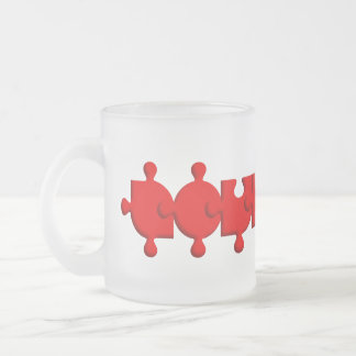 Glass mug Fosco Love Autism Puzzle
