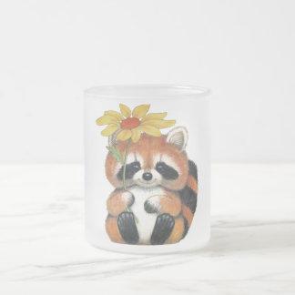 "Glass mug fosco ""Raccoon """
