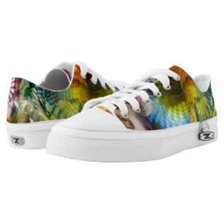 Glass multi coloured printed shoes