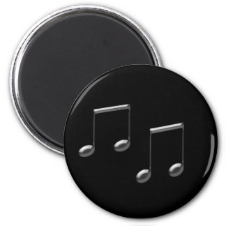 GLASS MUSIC NOTES 6 CM ROUND MAGNET