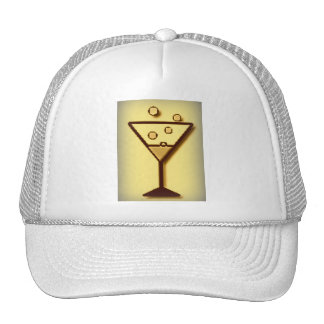 Glass of bubbly print hat