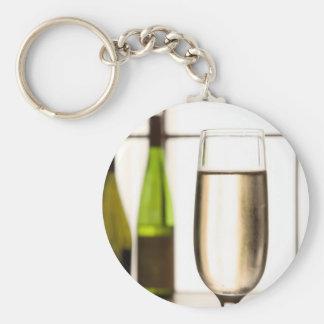 Glass of Champagne Keychain