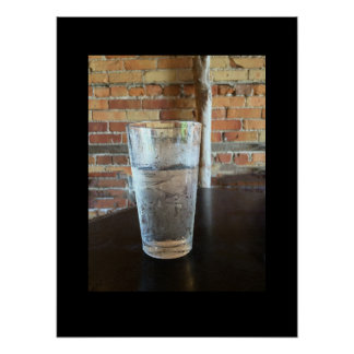 Glass of Ice Water Poster