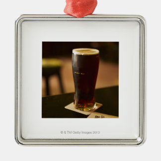 Glass of Irish ale in pub Christmas Ornament