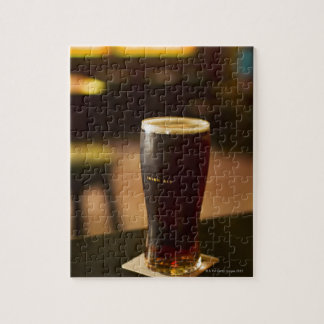 Glass of Irish ale in pub Jigsaw Puzzle