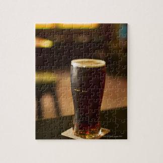 Glass of Irish ale in pub Jigsaw Puzzles