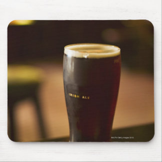 Glass of Irish ale in pub Mouse Mat