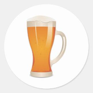 Glass Of Irish Beer Round Sticker