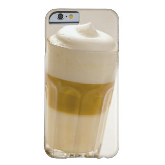 Glass of latte macchiato, close up barely there iPhone 6 case