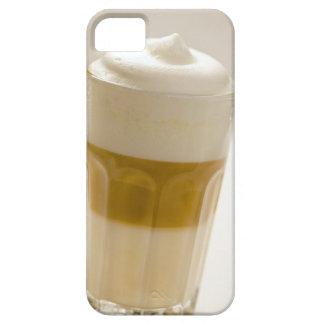 Glass of latte macchiato, close up iPhone 5 case