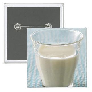 Glass of milk 15 cm square badge