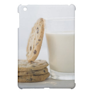 Glass of milk and cookies, close-up case for the iPad mini